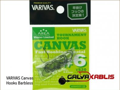 VARIVAS Canvas Hooks Barbless 6